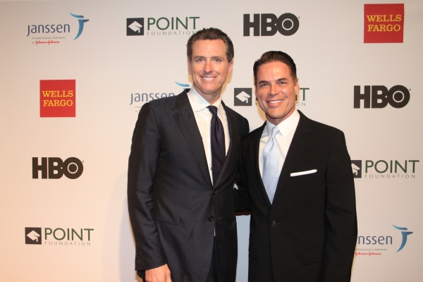 Gavin Newsom and Jorge Valencia
