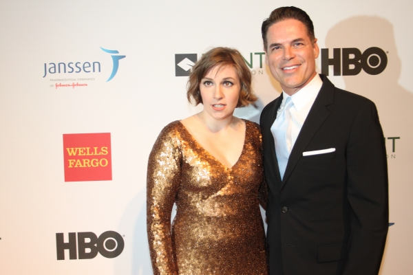 Lena Dunham and Jorge Valencia