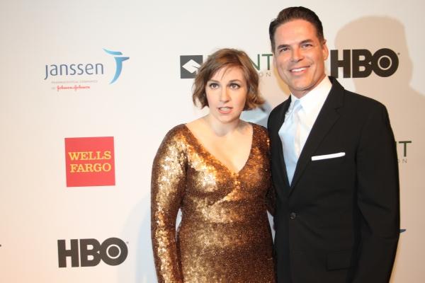 Lena Dunham and Jorge Valencia