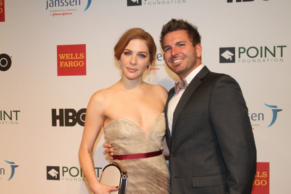 Rachelle Lefevre with her fiancee Chris Crary
