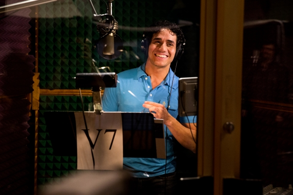 Photo Flash: A Whole New Album! In the Recording Studio with Cast of ALADDIN