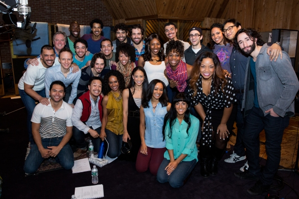 Cast of ALADDIN with Scott Taylor and Aron Accurso Photo
