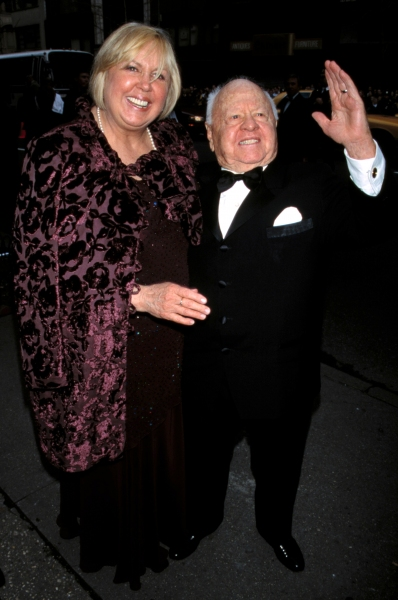 Mickey Rooney and wife attend Liza Minnelli and David Gest''s wedding held at Marble  Photo