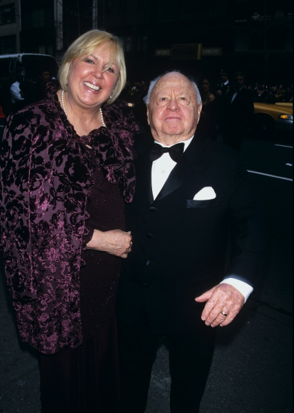 Mickey Rooney and wife attend Liza Minnelli and David Gest''s wedding held at Marble Collegiate Church in New York City on March 16th, 2002.
