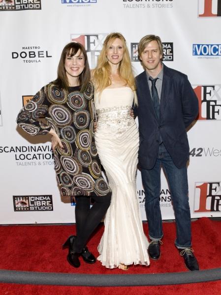 FALL TO RISE producer Tiffany Bartok, star Katherine Crockett and director Jayce Bart Photo