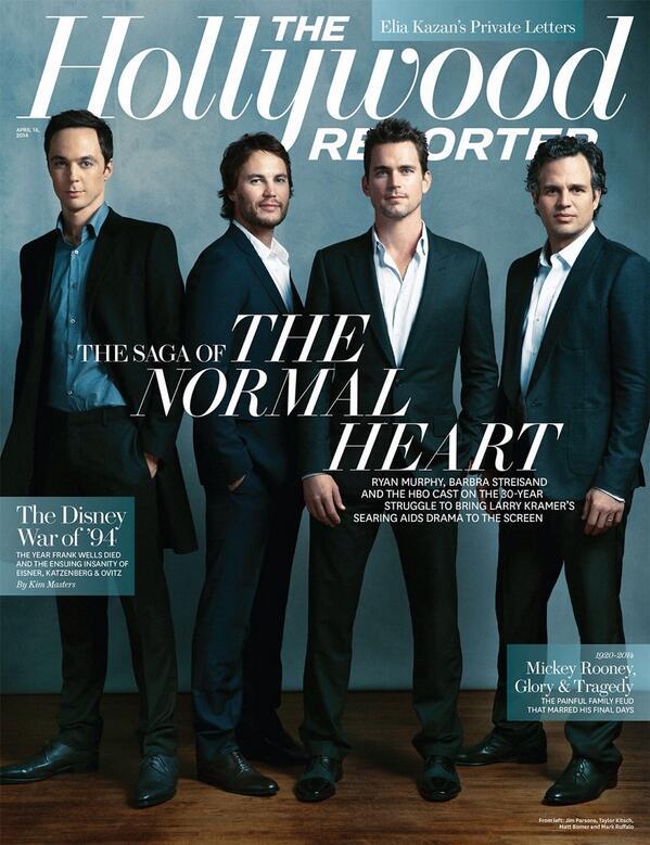 NORMAL HEART's Jim Parsons, Matt Bomer & More Grace Cover of THR