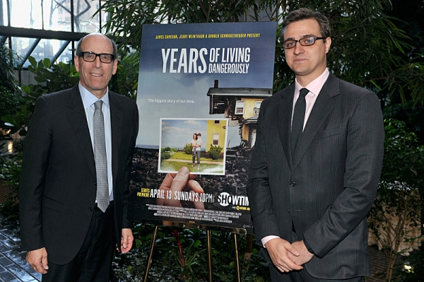 Matthew C. Blank (Chairman and Chief Executive Officer of Showtime Networks Inc.) and Chris Hayes (''Years'' correspondent) attend the Showtime screening of ''Years Of Living Dangerously'' at Ford Foundation''s New York Headquarters on April 9, 2014 in Ne