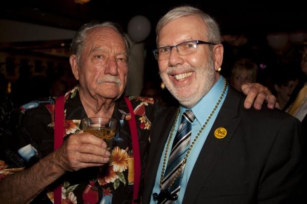 Milt Larsen and Leonard Maltin