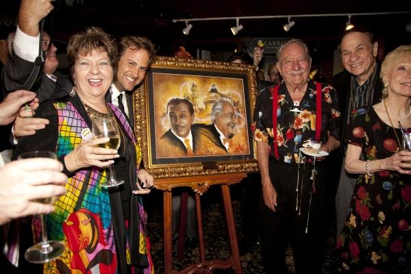 Arlene Larsen, Jim Mulligan, Milt Larsen, Richard and Elizabeth Sherman Photo
