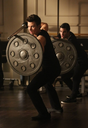 """GLEE: Kurt (Chris Colfer, L) and Blaine (Darren Criss, R) take a class together at NYADA in the """"Tested"""" episode of GLEE airing Tuesday, April 15 (8:00-9:00 PM ET/PT) on FOX. ©2014 Fox Broadcasting Co. CR: Mike Yarish/FOX"""