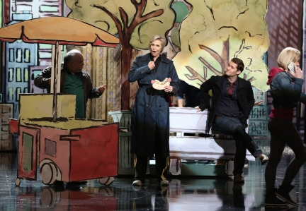 Photo Flash: First Look - Matthew Morrison, Jane Lynch Return to GLEE for 'Opening Night'
