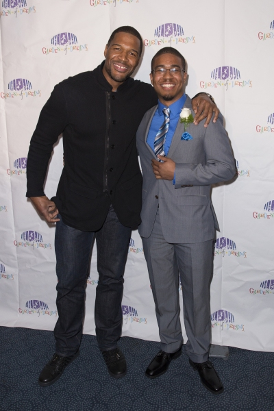 Jeremy Brown, Michael Strahan. Credit: MSG Photos Photo