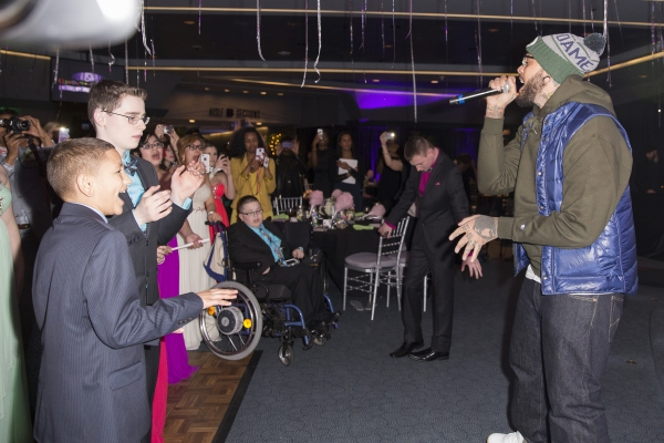 Travie McCoy performs at the Garden of Dreams prom. Credit: MSG Photos