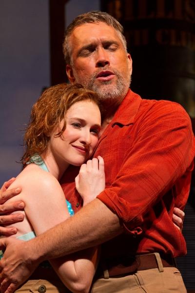 Erin Mackey (Nellie Forbush) and Mike McGowan (Emile de Becque).