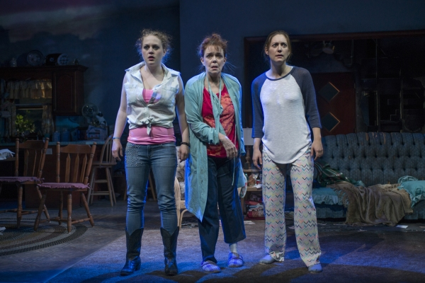 Caroline Neff (Meesh), Dierdre O''Conell (Mom), and Zoe Perry (Manda)