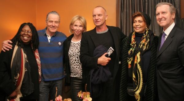 Photo Flash: Whoopi Goldberg, Sting, Janet Langhart Cohen and More Visit Bryan Cranston at ALL THE WAY