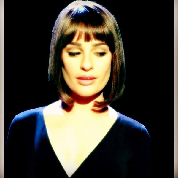 Lea Michele Dazzles In Stylish New Look For Upcoming FUNNY GIRL Sequence On GLEE