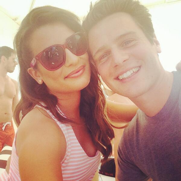 Lea Michele & Jonathan Groff Attend Coachella Together; Converse With Katy Perry & More