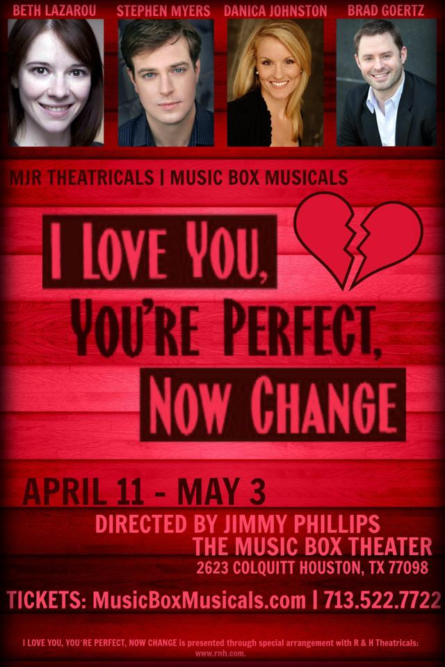BWW Reviews: MJR Theatricals | Music Box Musicals' I LOVE YOU, YOU'RE PERFECT, NOW CHANGE is Mirthful Musical Candy