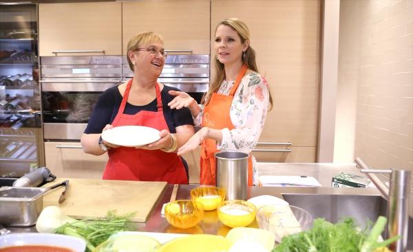 Photo Coverage: Chef Lidia Bastianich Cooks with BRIDGES OF MADISON COUNTY's Kelli O'Hara at Eataly