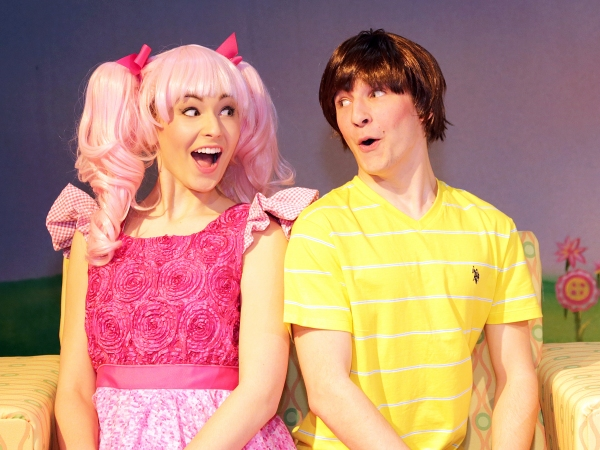 Halen Becker is Pinkalicious and Connor Bredbeck is her brother, Peter Pinkerton