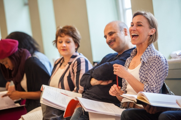 Photo Coverage: THE PAJAMA GAME In Rehearsals, Starring Xavier and Riding!