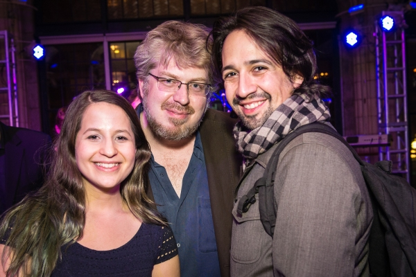 Shaina Taub, Dave Malloy and Lin-Manuel Miranda. Photo credit: Marielle Solan.