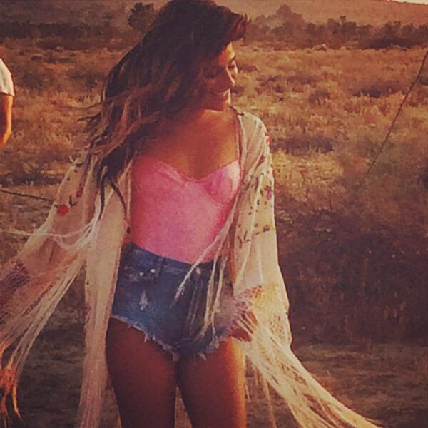 Lea Michele Shows Off Sexy New Look On Set Of 'On My Way' Music Video