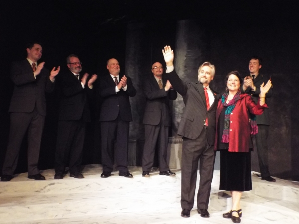 Front: George Hartpence and Carol Thompson.  Back, Left to right:  Greg Davis, Matthew Cassidy, John Pinto, Jim Ludovici, and John Bergeron