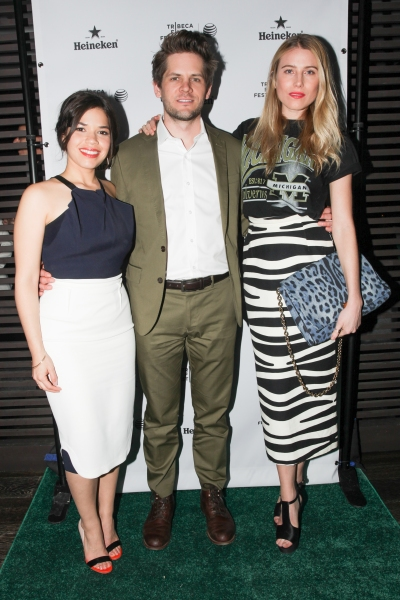 America Ferrera, Ryan Piers Williams, and Dree Hemingway