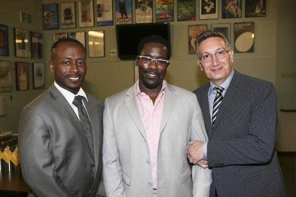 Music Director Kenny J. Seymour, Writer/Performer Daniel Beaty and Director Moises Kaufman