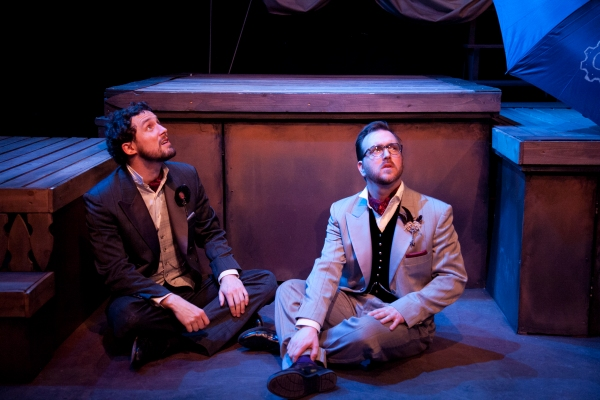 Nick Lake (Rosencrantz) and Tom McGrath (Guildenstern)