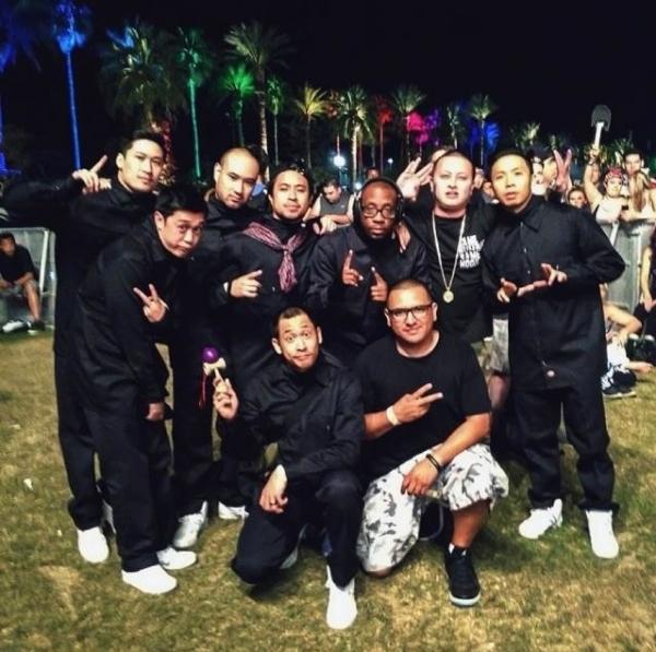 Photo Flash: Jabbawockeez Performs with Pharrell at Coachella