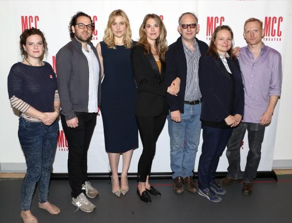 Playwright Penelope Skinner, Director Sam Gold, Greta Gerwig, Lucy Owen, Max Baker, Cara Seymour and Scott Shepherd