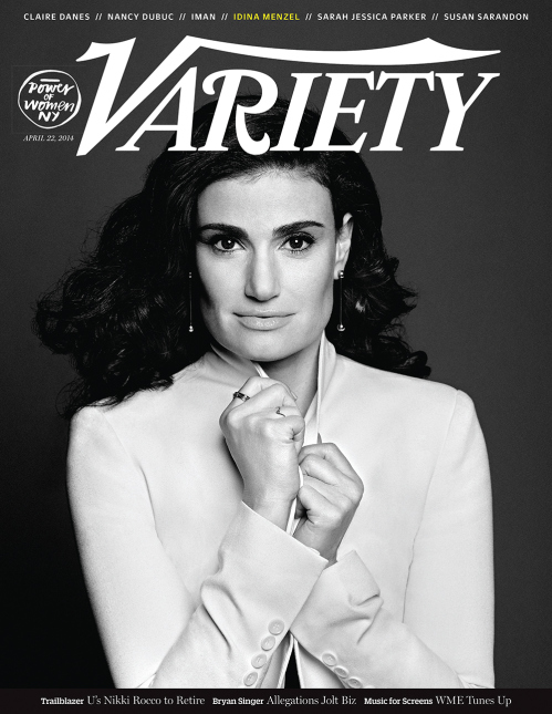 FIRST LOOK - Power of Women Honoree IDINA MENZEL Graces Cover of Variety