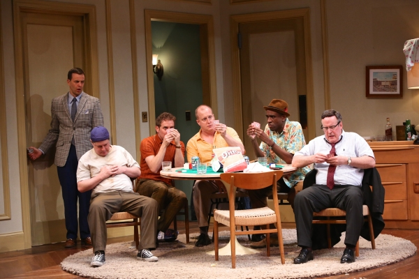 Noah Racey as Felix, seated L to R: Michael McGrath, Drew Hirshfield, Patrick Noonan, Brian D. Coats and Robert Rutland