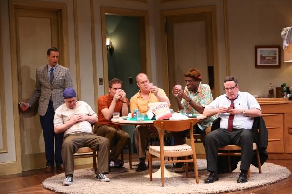 Noah Racey as Felix, seated L to R: Michael McGrath, Drew Hirshfield, Patrick Noonan, Brian D. Coats and Robert Rutland