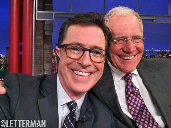 VIDEO: Colbert, Dave Take Selfie & More During LATE SHOW Visit