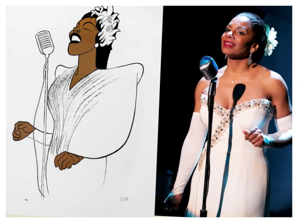 Exclusive Photo Flash: Audra McDonald Gets Hirschfeld Treatment for LADY DAY Opening Night Gift!