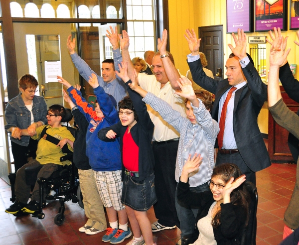 Lt. Governor Kim Guadagno continued to stress the importance of Autism Awareness Month with a stop at Paper Mill Playhouse in Millburn.