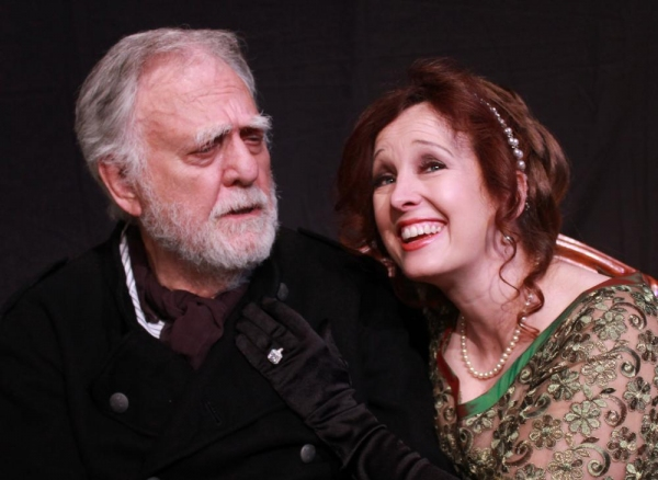 Captain Shotover (Charles Krohn) and his daughter Hesione Hushabye (Celeste Roberts) Photo