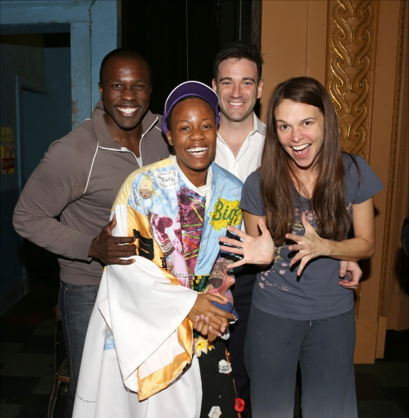 Anastacia McCleskey with Joshua Henry, Colin Donnell and Sutton Foster