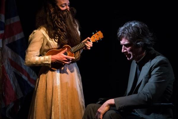 Helen Aldrich (Clara) and Peter Oswald (Lucian Willow)