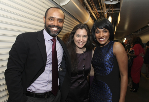 Cast member Nathaniel Stampley, Director Diane Paulus and cast member Alicia Hall Moran