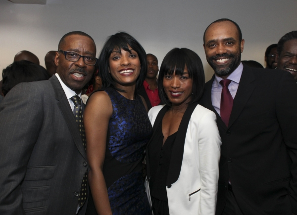 Actor Courtney B. Vance, cast member Alicia Hall Moran, actress Angela Bassett and ca Photo