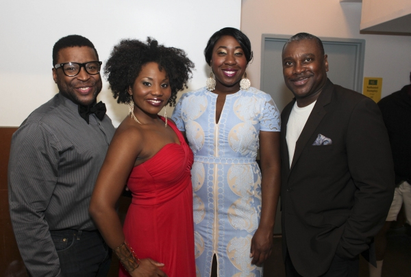 Cast members James Earl Jones II, Lindsay Roberts, Denisha Ballew and Kingsley Leggs