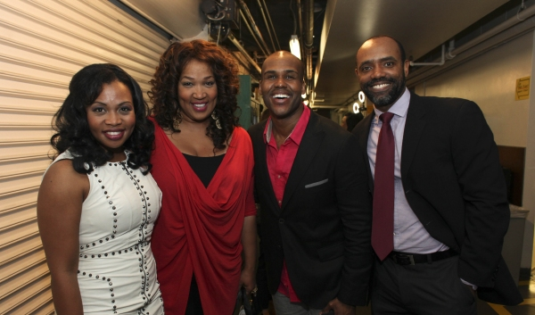 Cast member Sumayya Ali, actress Kym E. Whitley and cast members David Hughey