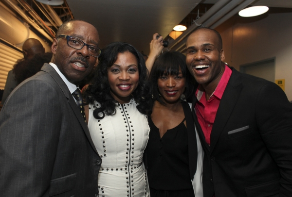 Actor Courtney B. Vance, cast member Sumayya Ali, actress Angela Bassett and cast member David Hughey
