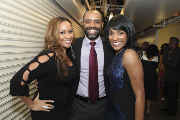 Actress Kiki Haynes and cast members Nathaniel Stampley and Alicia Hall Moran