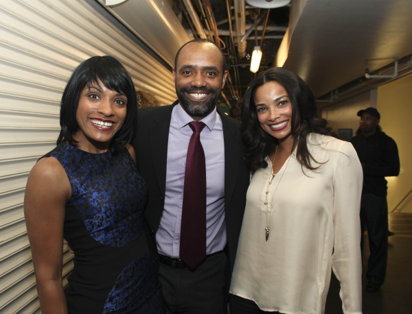 Cast members Alicia Hall Moran, Nathaniel Stampley and actress Rochelle Aytes